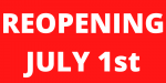 Reopening July 1st